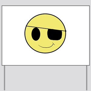 Pirate Smiley 1 Yard Sign