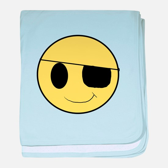 Pirate Smiley 1 baby blanket