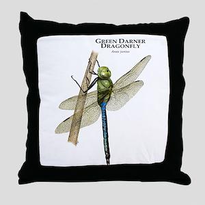 Green Darner Dragonfly Throw Pillow