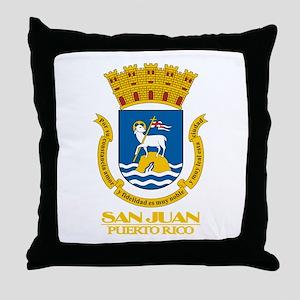 San Juan COA Throw Pillow