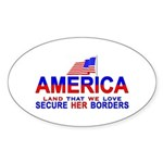 Border Patrol Secure Our Bord Oval Sticker