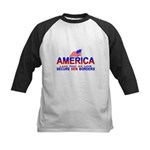 Border Patrol Secure Our Bord Kids Baseball Jersey