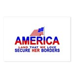 Border Patrol Secure Our Bord Postcards (Package o