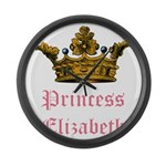 Princess Elizabeth Large Wall Clock