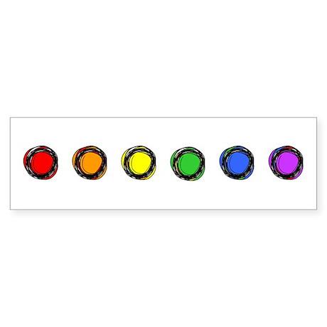 SO Gay Rainbow Dots Sticker (Bumper)