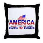 Border Crossing Secure Our Bo Throw Pillow