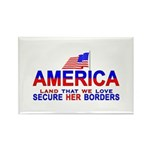 Border Crossing Secure Our Bo Rectangle Magnet (10