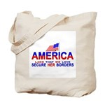 Border Crossing Secure Our Bo Tote Bag
