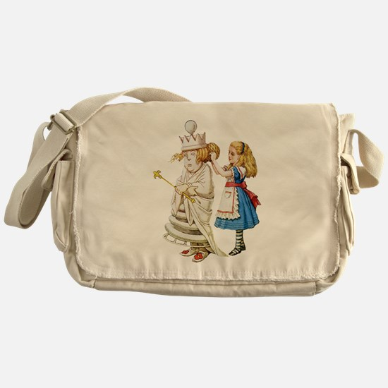 ALICE & THE WHITE QUEEN Messenger Bag