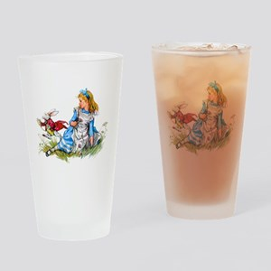 ALICE & THE RABBIT Drinking Glass