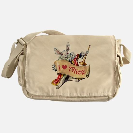 I LOVE ALICE - PINK EYES Messenger Bag