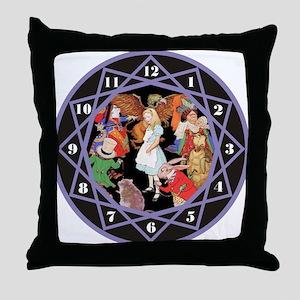 ALICE IN WONDERLAND - PURPLE Throw Pillow