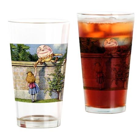 Alice Meets Humpty Dumpty SQ Drinking Glass