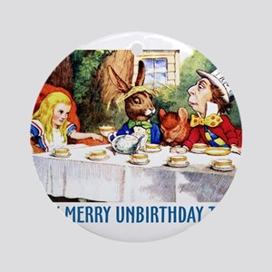 A Very Merry Unbirthday! Ornament (Round)