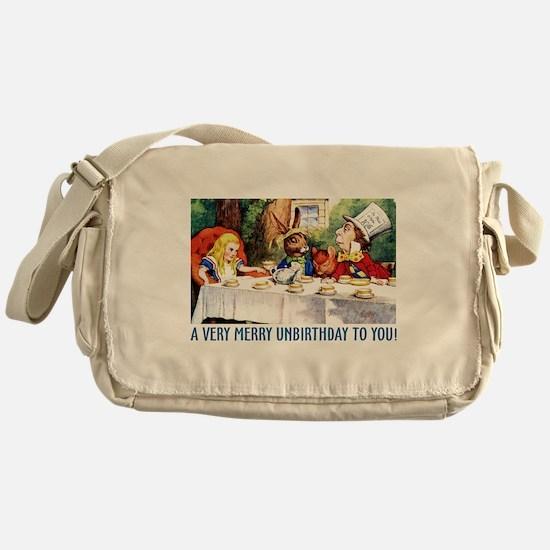 A Very Merry Unbirthday! Messenger Bag