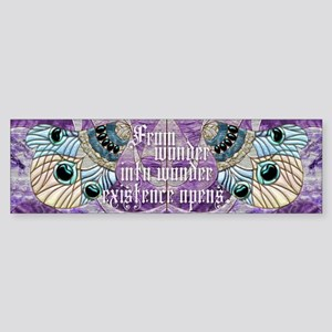 Harvest Moons Peacock Feather Bumper Sticker