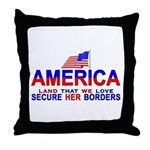 Border Security Secure Our Bo Throw Pillow