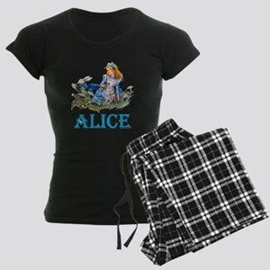 ALICE IN WONDERLAND - BLUE Women's Dark Pajamas