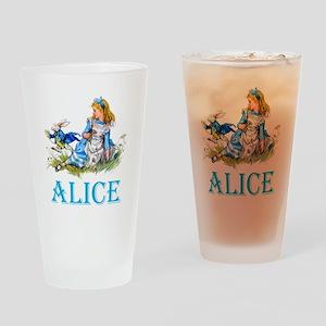 ALICE IN WONDERLAND - BLUE Drinking Glass