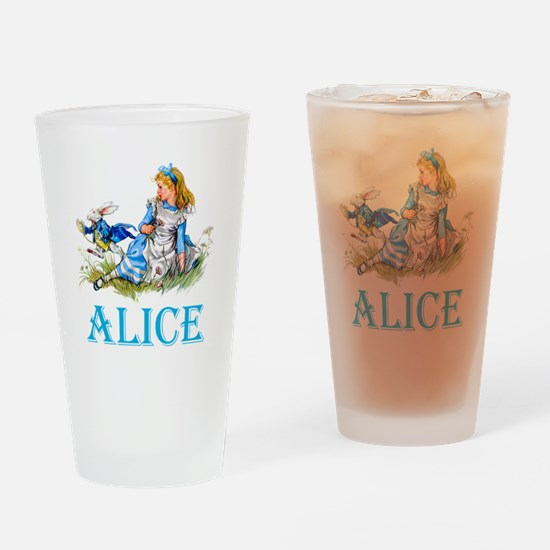ALICE IN WONDERLAND - BLUE Drinking Glass