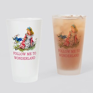ALICE - Follow Me To Wonderland Drinking Glass
