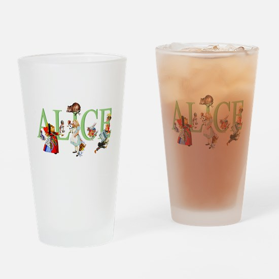 ALICE AND FRIENDS Drinking Glass