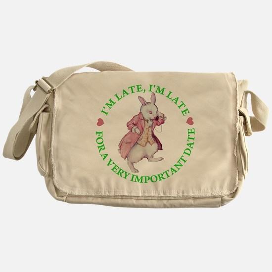 I'M LATE, I'M LATE Messenger Bag