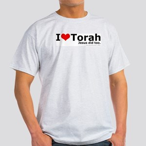 I Love Torah - Jesus Did Too Ash Grey T-Shirt