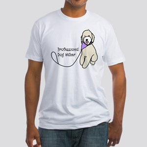 Professional Dog Walker Fitted T-Shirt