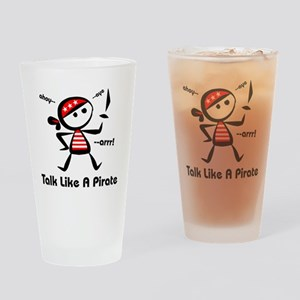 Talk Like A Pirate Drinking Glass