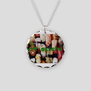 got sushi ? Necklace Circle Charm