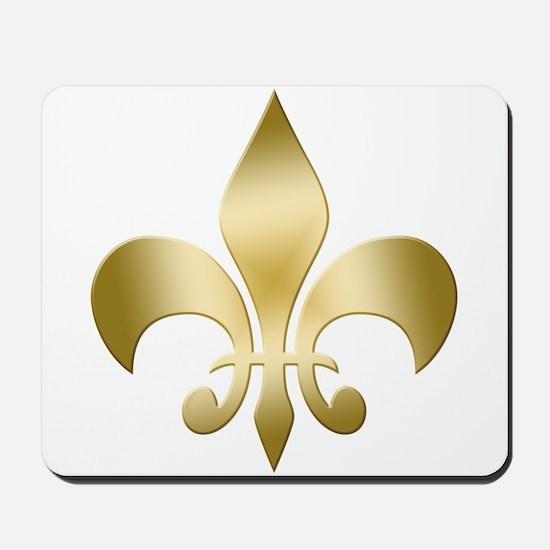 Gold Fleur Mousepad