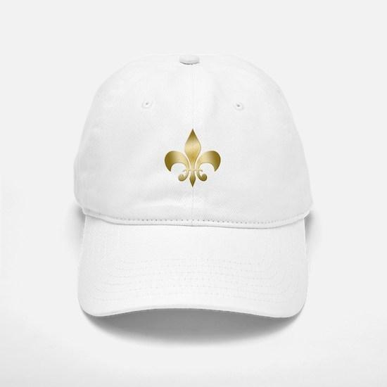 Gold Fleur Baseball Baseball Cap