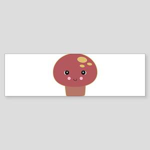 Kawaii Toadstool Mushroom Sticker (Bumper)