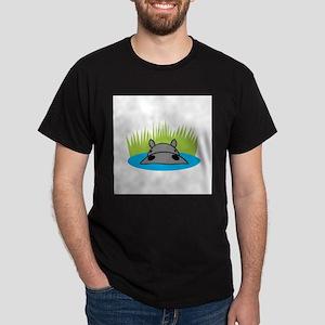 Hippo in Water Dark T-Shirt