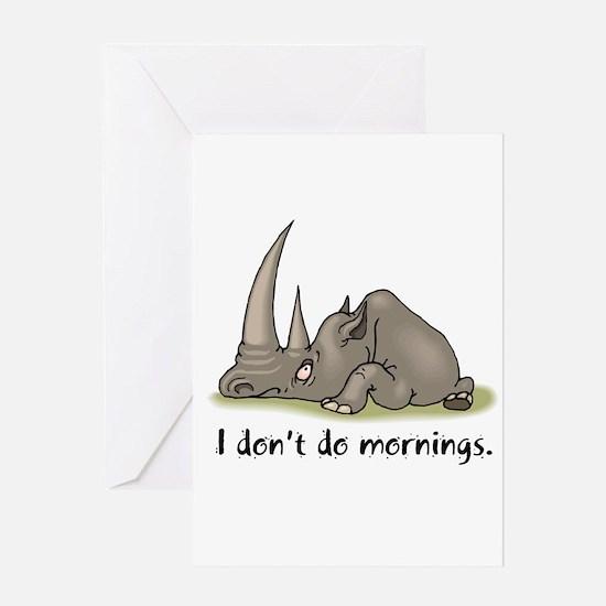 Lazy Rhino Greeting Card