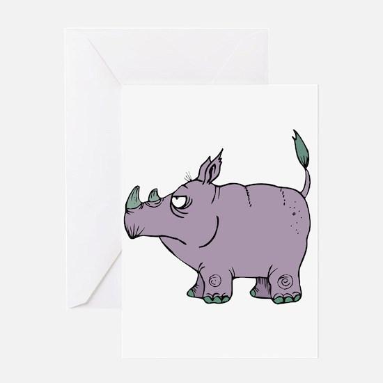 Stubborn Rhino Greeting Card