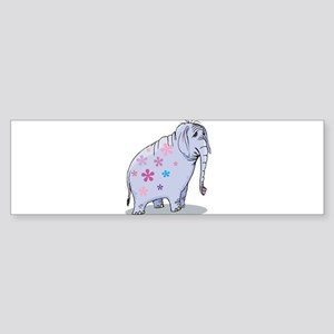 Flower Power Hippie Elephant Sticker (Bumper)