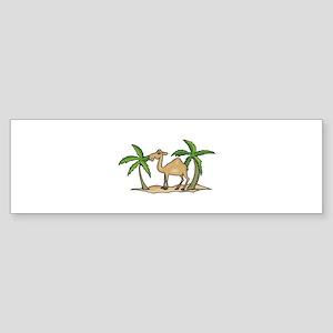 Cute Camel and Palm Trees Des Sticker (Bumper)