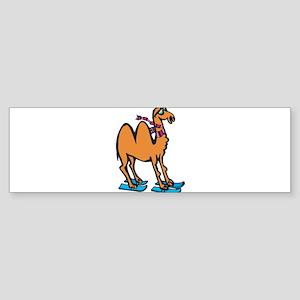 Silly Skiing Camel Sticker (Bumper)