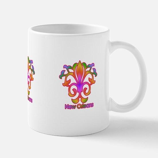 Colorful Sprouting Fleur de lis (pink) Mug