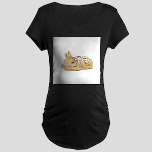 Fawn (Baby Deer) Maternity Dark T-Shirt