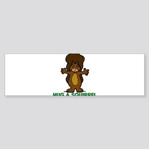Hug a Squirrel Sticker (Bumper)
