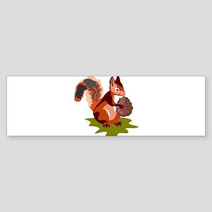 Colorful Squirrel Sticker (Bumper)