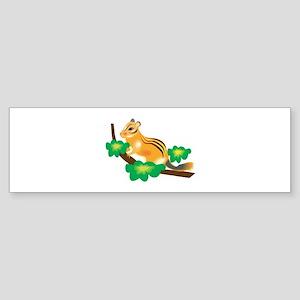 Cute Chipmunk in Tree Sticker (Bumper)
