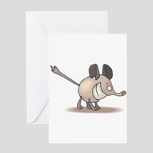 Silly Smiling Anteater Greeting Card