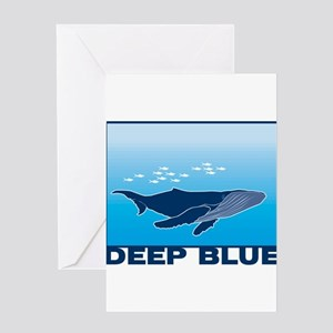Deep Blue Sea Whale Design Greeting Card