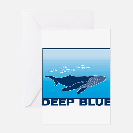 Deep Blue Sea Whale Design Greeting Card