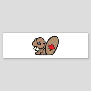 Cute Canadian Beaver Sticker (Bumper)