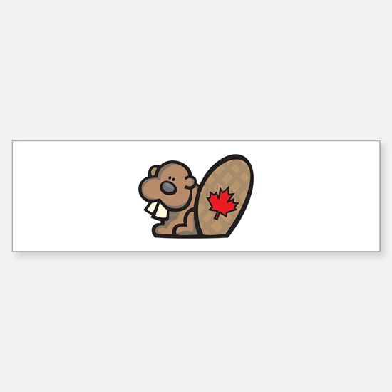 Cute Canadian Beaver Sticker (Bumper)